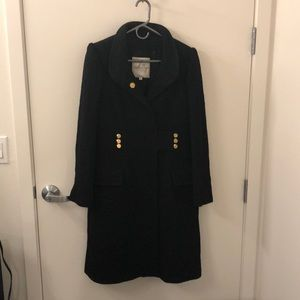 Milly dress coat - black with gold buttons